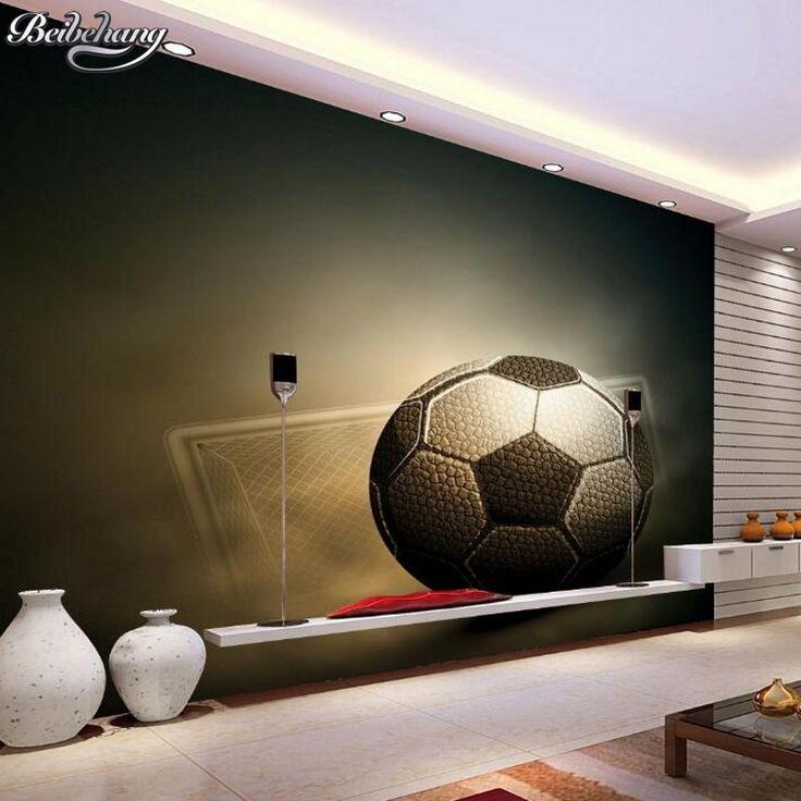 beibehang 3D Football Wallpaper Sport Photos Wallpaper Living Room Sofa Bedroom Soccer TV Background Customize 3d wall paper  #Affiliate