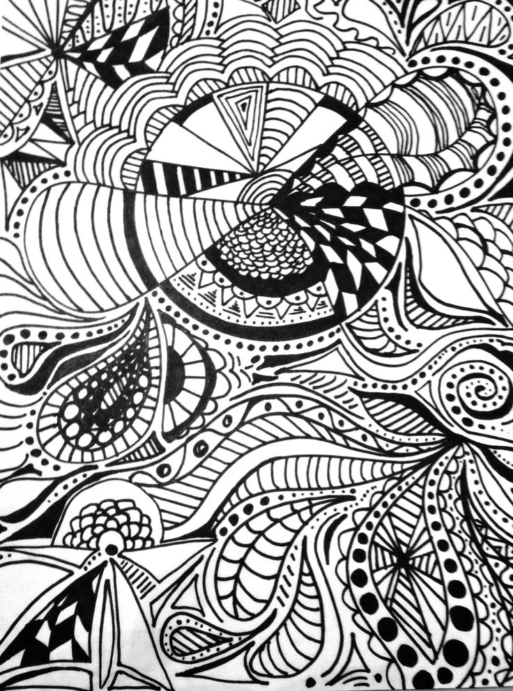 Patterns Black Draw And White