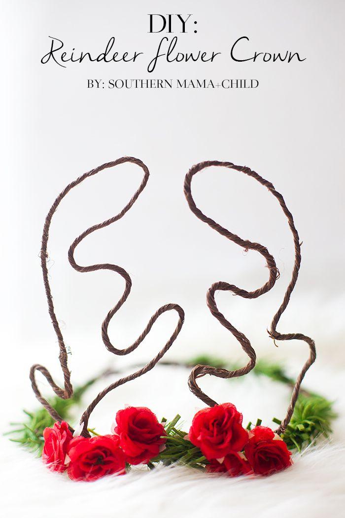 DIY: Reindeer Flower Crown