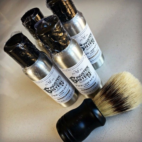Shop Spinster Sisters' award-winning pre-shave oil available from www.explorelocaluniverse.com.