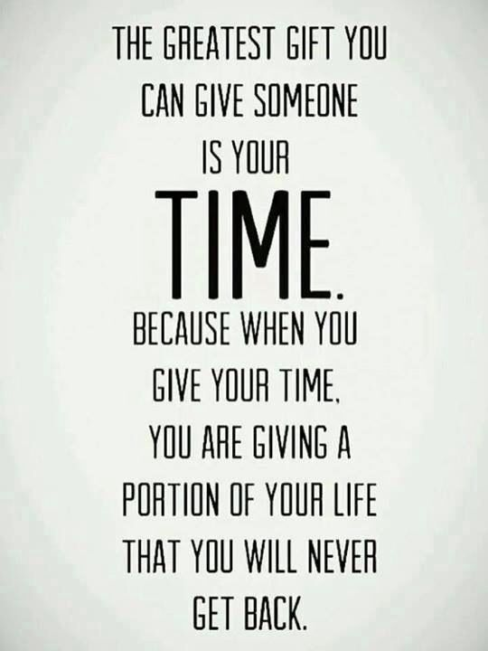 Sometimes it's all you can give, just so happens to be the most important thing...  No matter what,  don't regret giving it, it's how you chose to live your life.  TM