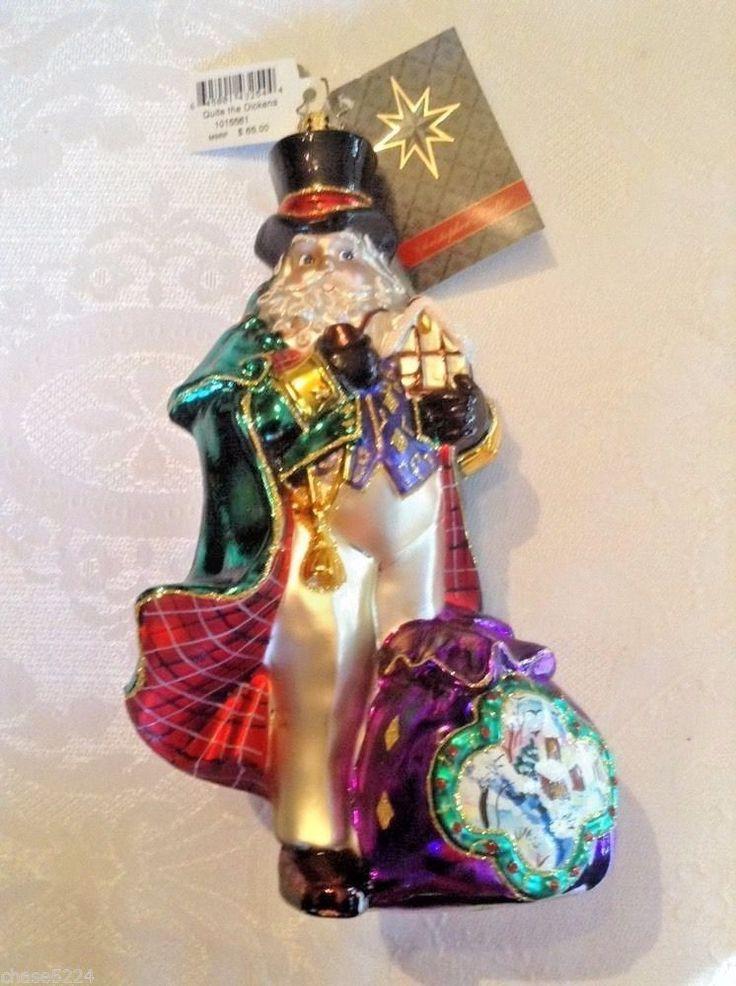 "Christopher Radko ""QUITE THE DICKENS'  Ornament NEW-  hand painted detail -  NIB  | eBay"