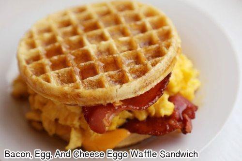 Bacon, Egg and Cheese Eggo Waffle Sandwich