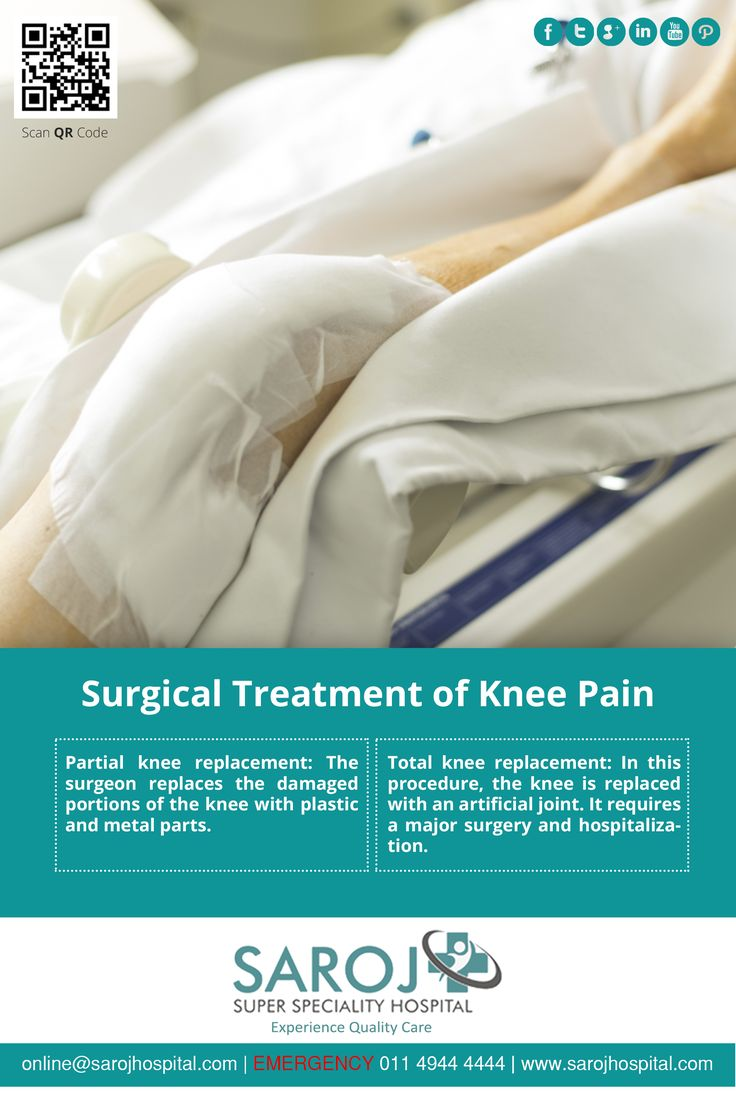 Surgical treatment of severe knee pain is a joint replacement surgery. Know about the types of knee replacements. Avail second opinion on orthopaedics treatment. Share your information here - http://www.sarojhospital.com/orthopedic.html