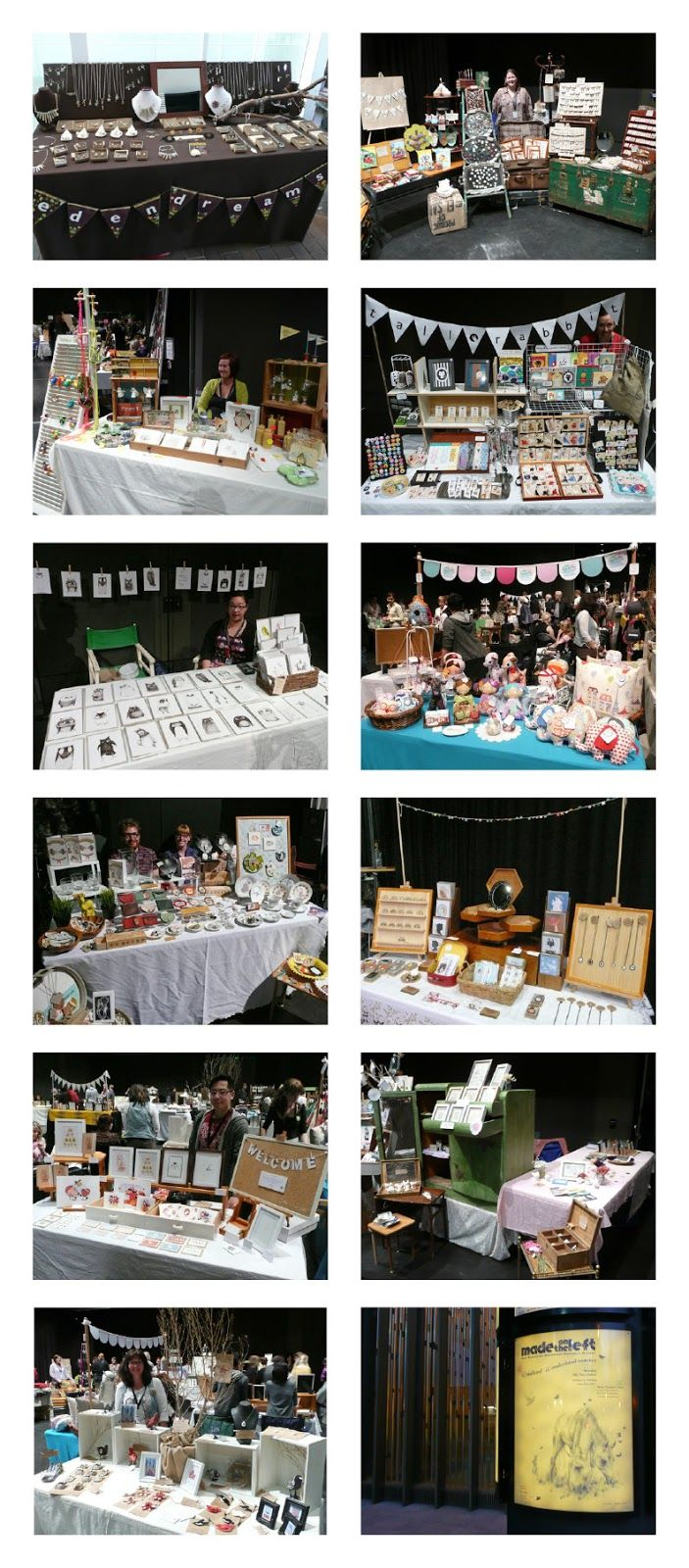 LINK HEAVY FOR FIRST TIMERS! Vintage Market or Craft Fair Display Ideas (Made on the Left)