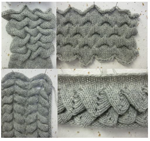 Knit Crocodile Stitch Written Instructions : 165 best Puntos y tecnicas de tejido a maquina images on Pinterest