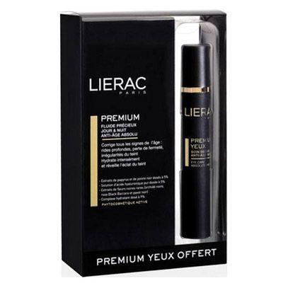 Lierac Premium Day&Night 50ml  İçeriğindeki papirüs bitkisi ve siyah biber özü içeren hafif ve etkili yapısı sayesinde Premium Fluid Day & Night ciltteki derin kırışıklıkları gidermeyi yardımcıdır. Saf hyaluronik asit çözeltisi , kırışıklıkları doldurucu özelliği ile cildin dolgunluk kazanmasına ve pürüzsüzleşmesine destek olur. İçeriğindeki antioksidan siyah çiçekler, siyah orkide, siyah gül, siyah gelincik sayesinde cildinizi beslemeye destek olur.