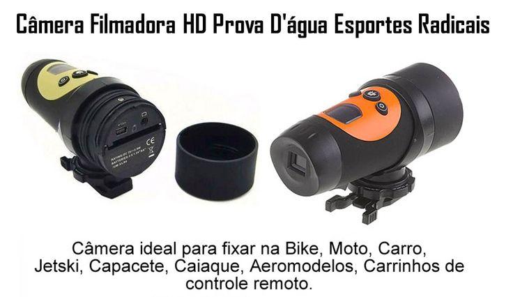 Camera Filmadora Hd Prova Dágua Capacete Bike Moto Espiã - R$ 159,99 no MercadoLivre