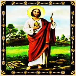 São Judas Tadeu - Quadrinhos confeccionados em Azulejo no tamanho 15x15 cm.Tem um ganchinho no verso para fixar na parede. Inspirados em santos católicos. Para entrar em contato conosco, acesse: www.babadocerto.com.br