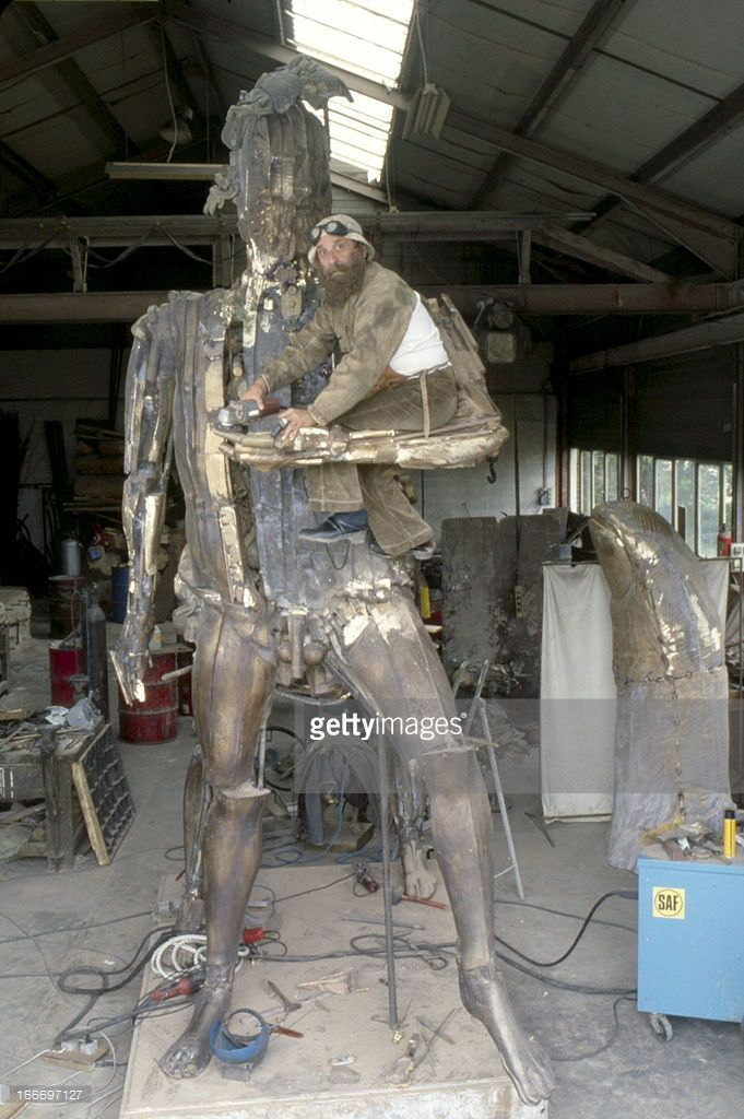 News Photo : Cesar Sculpted 'Le Centaure' In Homage To...
