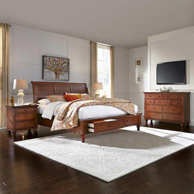ashfield 4piece queen storage bedroom set  king size
