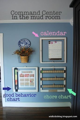 Chore Chart & Good Behavior Chart with reward system. I'm going to make something like this but a smaller version for my refrigerator.