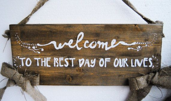 Welcome Wedding SignWooden Wedding Welcome Sign Rustic