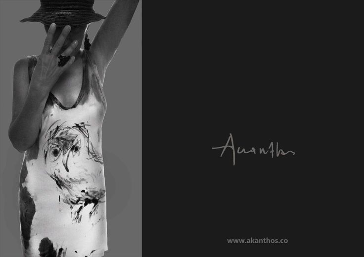 "pure cotton, painted, from the concept ""Athene glaux "" (ONE OF A KIND) www.akanthos.co"
