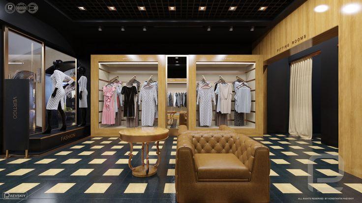 Дизайн интерьера магазина в ТЦ