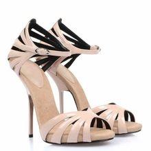 Rosa esculpida sandálias de salto alto de estrangeiro pré outono sapatos de salto alto sandálias para mulheres(China (Mainland))
