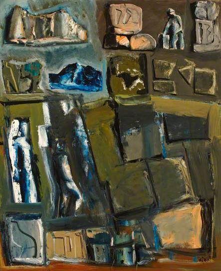 Mario Sironi (Italy 1885-1961), Composition, oil/canvas, 1956. Estorick Collection of Modern Italian Art, London.