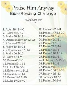 prase him anyway Bible reading plan2