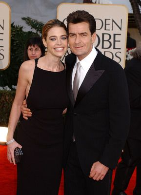 Charlie Sheen and Denise Richards.