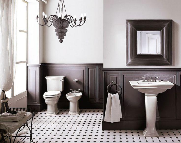 Devon&Devon Lavabo a colonna Westminster con tre fori per la rubinetteria, realizzato in porcellana bianca e disponibile in due misure e nella versione lavamano. La collezione Westminster comprende inoltre bidet e wc con cassetta in tre diverse versioni.