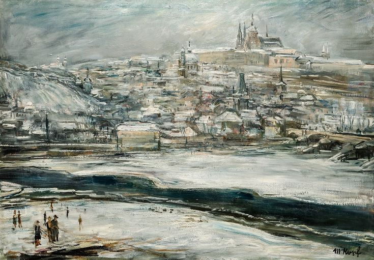 Maxim Kopf, Zimní Praha, 1937, olej, plátno, 64 x 91 cm, Pro Arte i.f.
