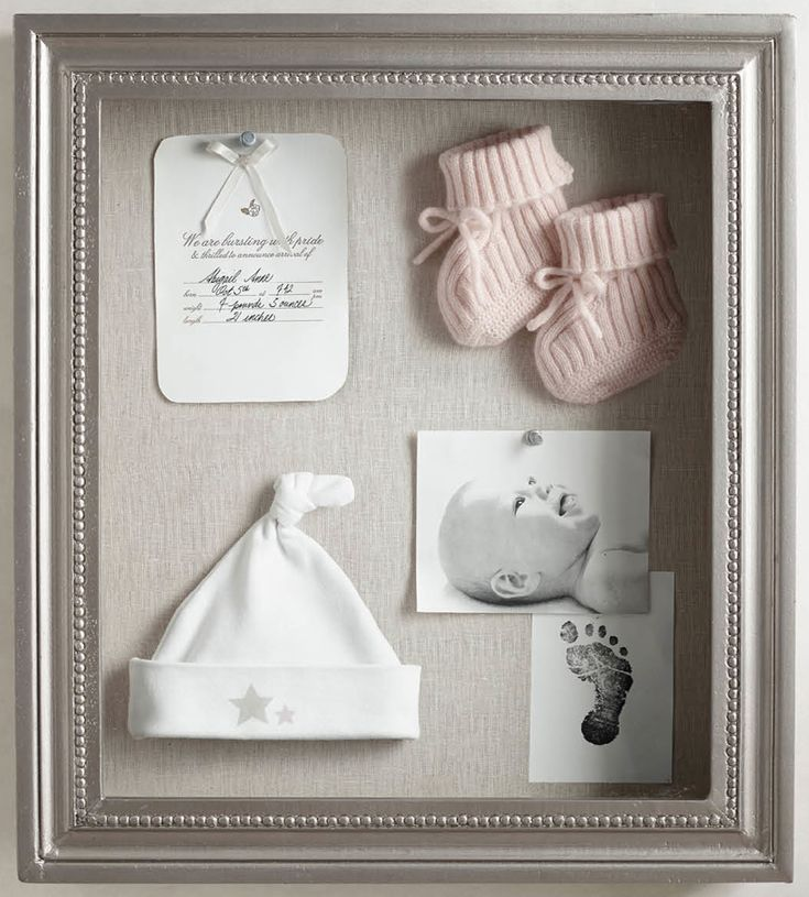 handcrafted shadowbox for newborn mementos. #rhbabyandchild
