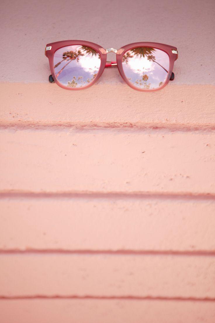 Live la vie en rose in TOMS Adeline matte sherry rose colored glasses.