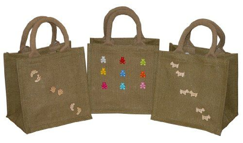 1 X Natural Jute Gift/ Shopper Bag Fully lined (various designs) 30 x 27 x 16 Natural Clay Co http://www.amazon.co.uk/dp/B004FVF57I/ref=cm_sw_r_pi_dp_CKuLwb15XF3AT