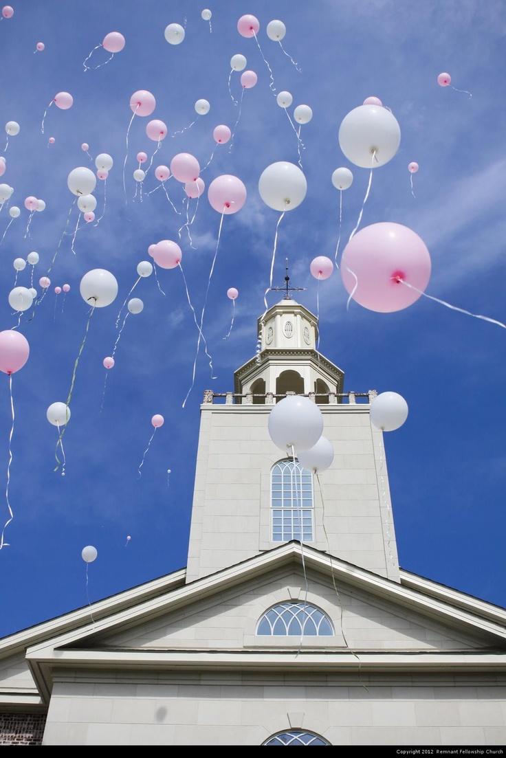 Morgan Wedding, Balloon Release, Remnant Fellowship Church