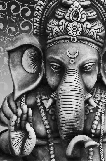 Black and white ganesha