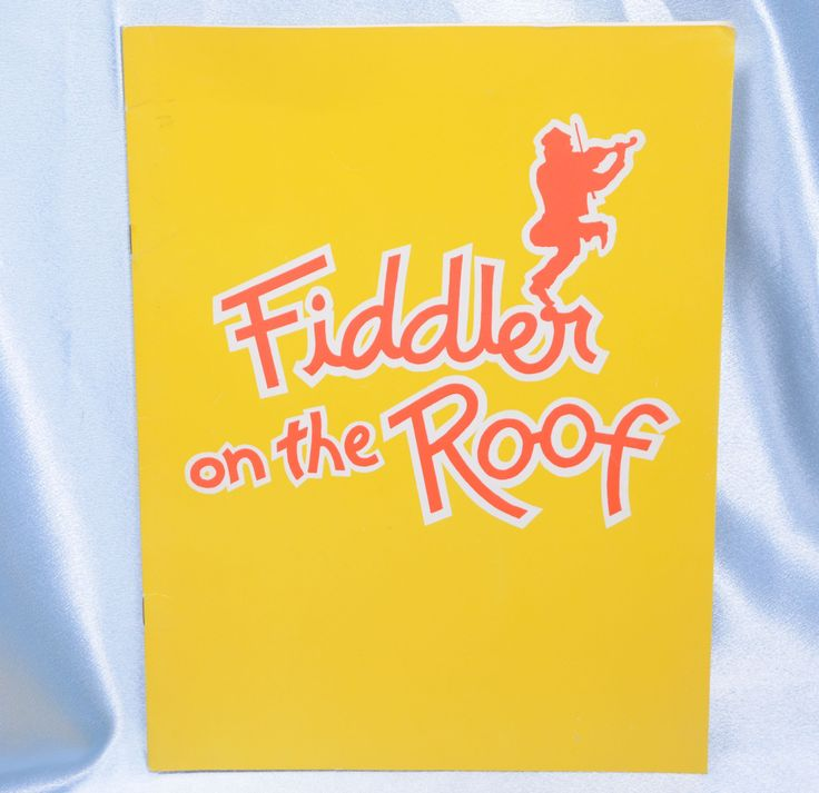 Fiddler on the Roof Souvenir Program-1981 at the Aladdin Theater Las Vegas by VintageByDuran on Etsy