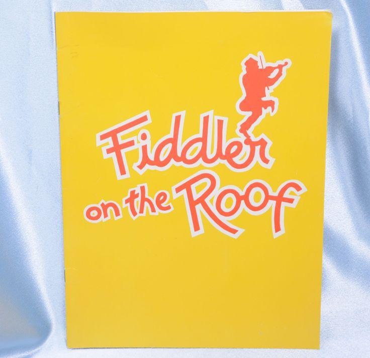 Fiddler on the Roof Souvenir Program-1981 at the Aladdin Theater Las Vegas by VintageByDuran on Etsy
