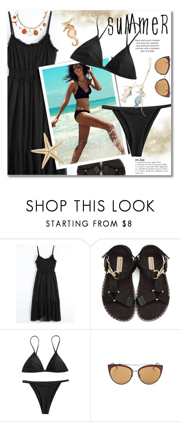 """""""symmer style"""" by svijetlana ❤ liked on Polyvore featuring Burberry, Summer and zaful"""