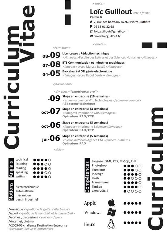 129 best CURRIcula VITae images on Pinterest Resume design - tim cook resume