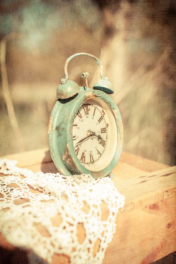 Shabby Cottage Chic  Vintage green teal robin's egg blue clock #toptobottom #wearteal #belabumbum
