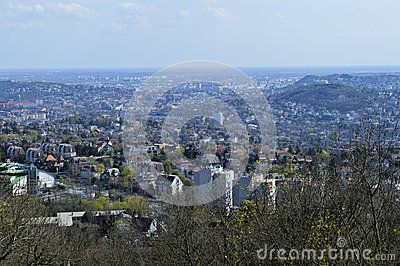 Landscape view in Budapest city,  Hungary
