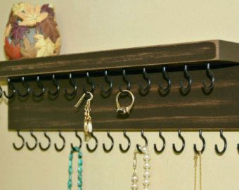 Jewelry Organizer Necklace Holder With A by TheWoodenCorner