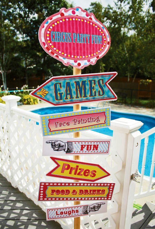 Crea expectación con unos carteles coloridos en tu fiesta circo / Create excitement with colour signs at your circus or carnaval party