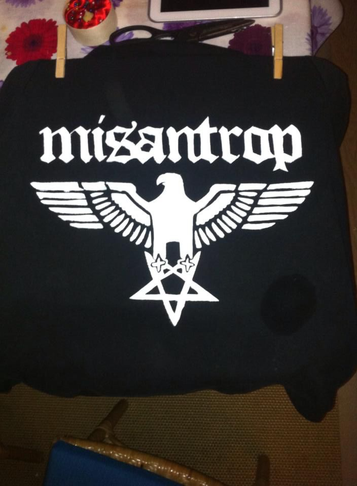 Shining misantrop hoodie  Impression, fan art, Upcycled gift Template painted