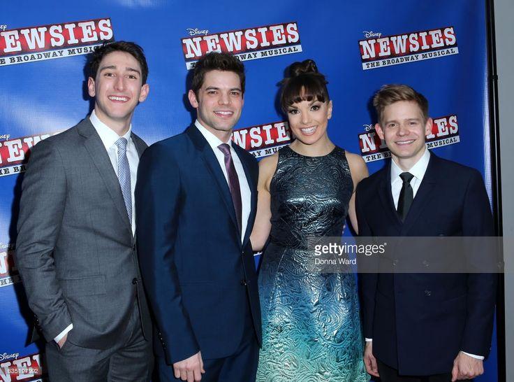 Ben Fankhauser, Jeremy Jordan, Kara Lindsay and Andrew Keenan-Bolger attend the 'Newsies' New York Premiere at AMC Loews Lincoln Square 13 on February 13, 2017 in New York City.