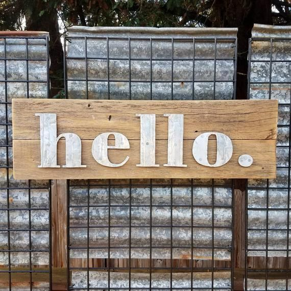 Hello Sign Extra Large Etsy Hello Sign Create Sign Custom Metal Signs