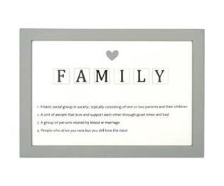Aile Açıklamalı Scrabble Tabela