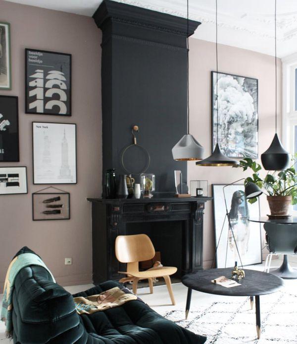 Home Decor 40 Beautiful Fireplace Mantel Ideas Pink Living Room Interior Design Living Room Living Room Interior #new #living #room #ideas