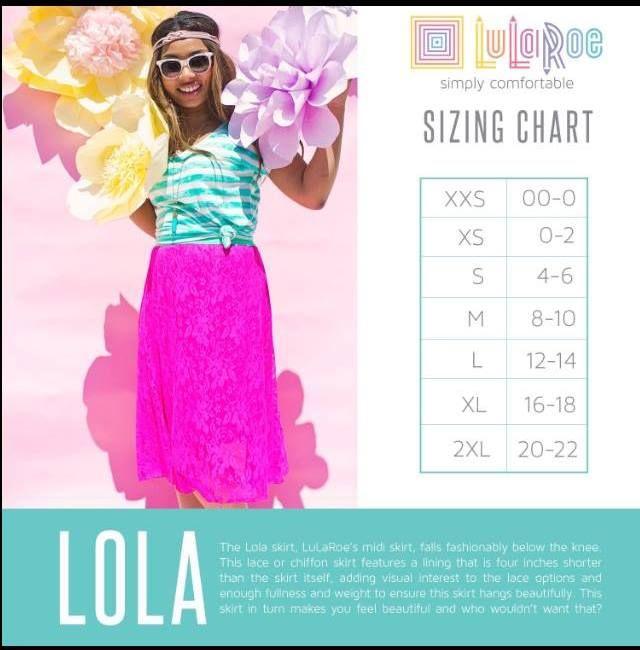 Pin by Lularoe Audra Agho on LuLaRoe Sizing Charts  Lula