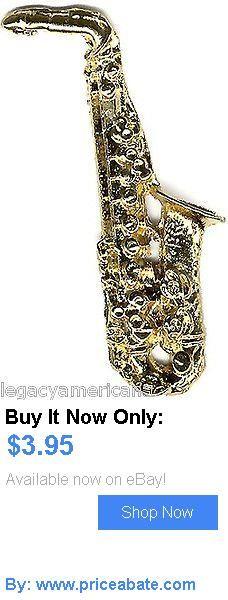 Bill Clinton: 1992 Bill Clinton Saxophone Campaign Lapel Pin (1593) BUY IT NOW ONLY: $3.95 #priceabateBillClinton OR #priceabate