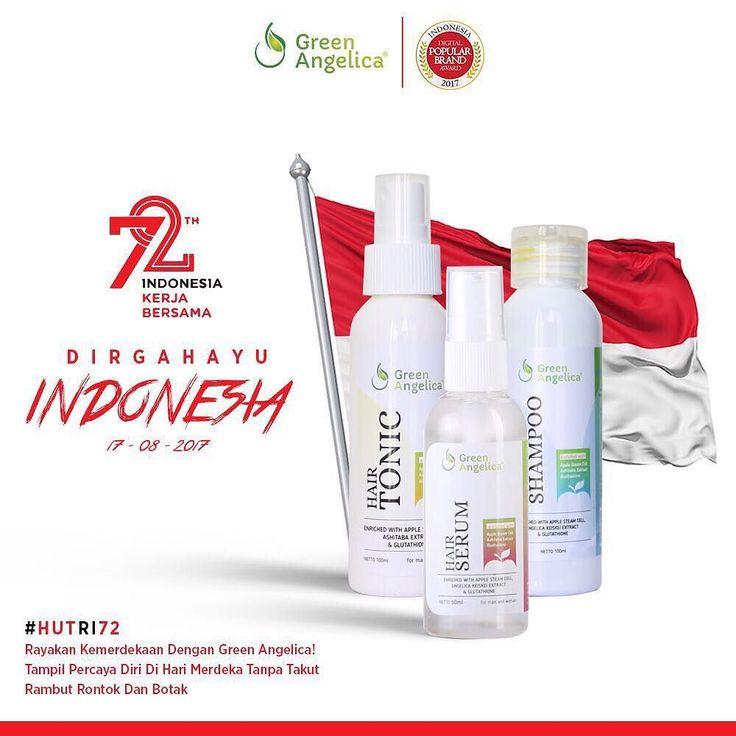 Rayakan #kemerdekaan #republikindonesia tanpa takut #rambutrontok dan #rambutbotak Dengan #greenangelica