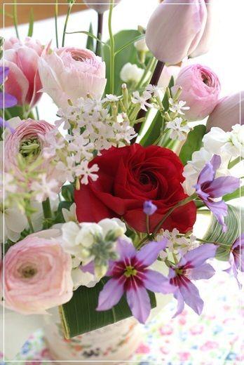 【今日の贈花】合格おめでとう♪|Flower note の 花日記 (横浜・上大岡 アレンジメント教室)