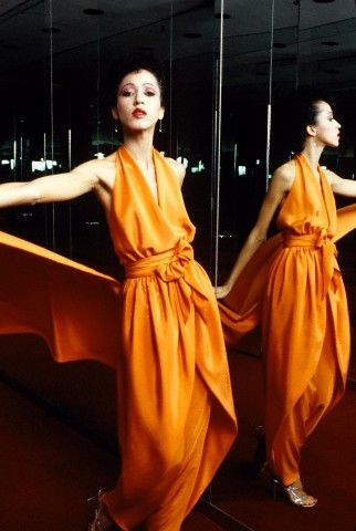 Pat Cleveland by Dustin Pittman Modeling Halston's Spring 1980 Collection