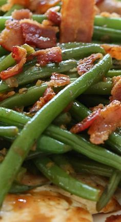 One Skillet Chicken with Bacon and Green Beans