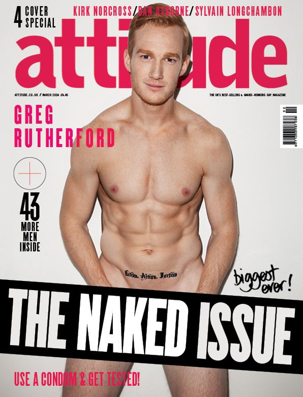 OH, AND THIS MAGAZINE COVER HAPPENED. | Proof That Greg Rutherford Is Officially The Hottest Ginger To Ever Exist